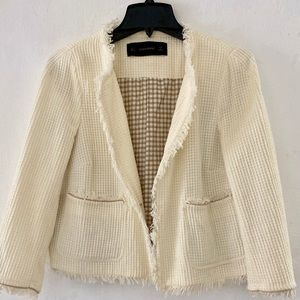 Zara Basic| Cream Tassel Blazer